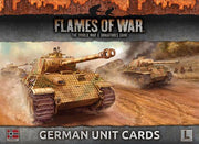 FW130G Armies Of Late War: German Unit Cards