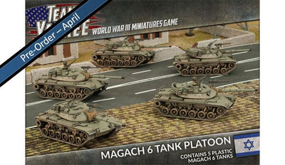 TIBX02 Magach 6 Tank Platoon (Plastic) Battlefront- Blitz and Peaces
