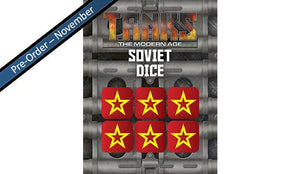 MTANKS17 Modern Soviet Dice Set (6) Battlefront- Blitz and Peaces