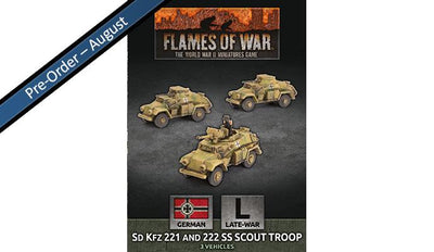 GBX157 Sd Kfz 221 and 222 SS Scout Troop (x3 Plastic)