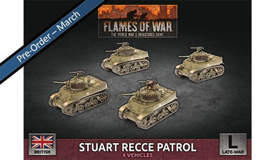BBX58 Stuart Recce Patrol (Plastic) Battlefront- Blitz and Peaces