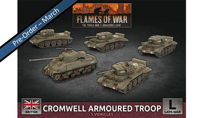BBX57 Cromwell Armoured Troop (Plastic) Battlefront- Blitz and Peaces