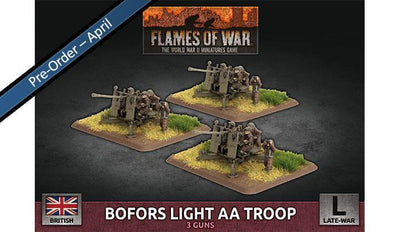 BBX65 Bofors Light AA Troop (Plastic) Battlefront- Blitz and Peaces