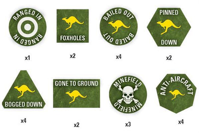 TTK07 Team Yankee Australian Token Set Battlefront- Blitz and Peaces