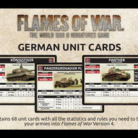 FW130G Armies Of Late War: German Unit Cards Battlefront- Blitz and Peaces