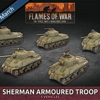 BBX60 Sherman Armoured Troop (Plastic) Battlefront- Blitz and Peaces