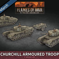 BBX56 Churchill Armoured Troop (Plastic) Battlefront- Blitz and Peaces