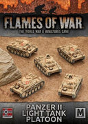 GBX102 Panzer II Light Tank Platoon Battlefront- Blitz and Peaces