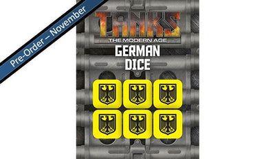 MTANKS19 Modern German Dice Set (6) Battlefront- Blitz and Peaces