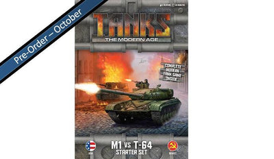 MTANKS01 TANKS: The Modern Age - M1 vs T-64 Starter Set Battlefront- Blitz and Peaces