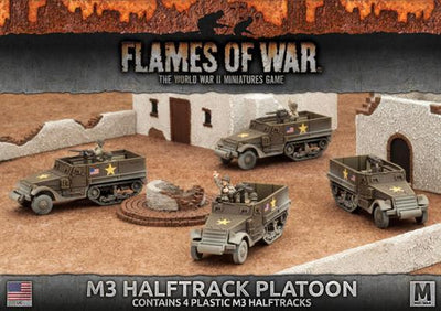 UBX57 M3 Halftrack Platoon (Plastic) Battlefront- Blitz and Peaces