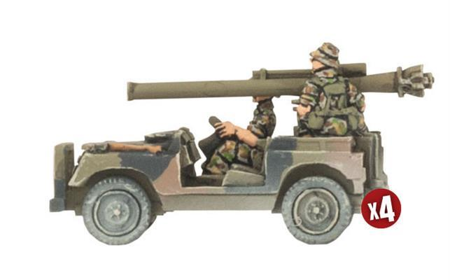 TAU121 Anti-tank Land Rover Section Battlefront- Blitz and Peaces
