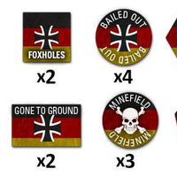 TTK03 Team Yankee West German Token Set Battlefront- Blitz and Peaces