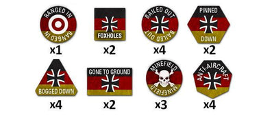 TTK03 Team Yankee West German Token Set