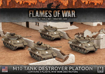 UBX53 M10 3-Inch Tank Destroyer Platoon (Plastic) Battlefront- Blitz and Peaces