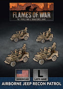 UBX65 Airborne Jeep Recon Patrol (Plastic) Battlefront- Blitz and Peaces