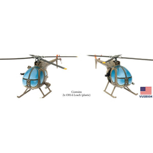 VUSBX04 OH-6 Aeroscout Platoon (Plastic) Battlefront- Blitz and Peaces