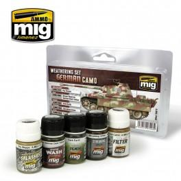 A.MIG-7443 GERMAN CAMOUFLAGE WEATHERING SET MIG- Blitz and Peaces