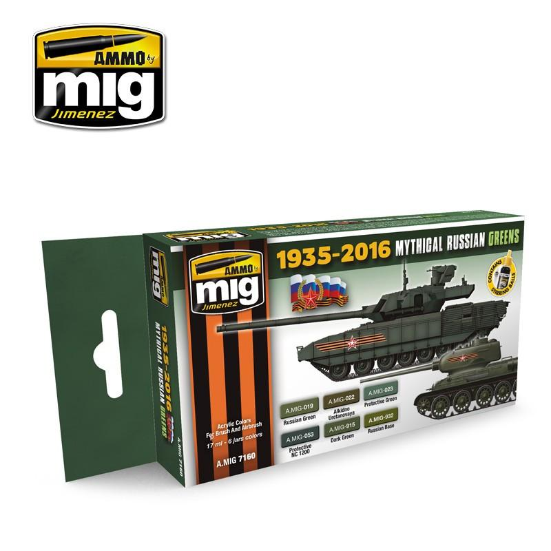 Mythical Russian Green Colours 1935 - 2016 MIG- Blitz and Peaces