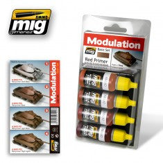 RED PRIMER MODULATION SET MIG- Blitz and Peaces