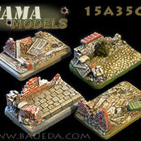 15A35CB 4 different Medium/Light Artillery scenic bases (urban)