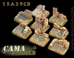 15A39CB 6 different 2 holes small scenic bases (urban