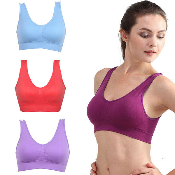 Padded Seamless Rimless Sports Bras-Intimates-Pasha Fashion