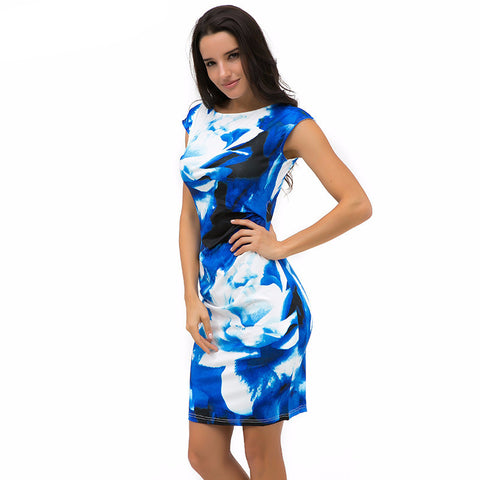 Bodycon Elegant Flower Summer Dress*-Women Dresses-Pasha Fashion