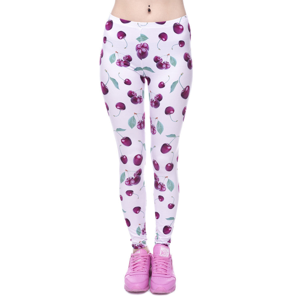 3D Pink Ankle-Length Leggings-Leggings & Tights-Pasha Fashion