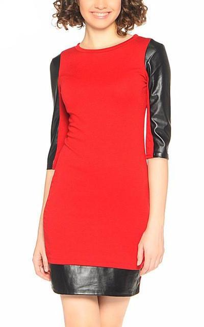 Above Knee Straight Spring Dress-Women Dresses-Pasha Fashion