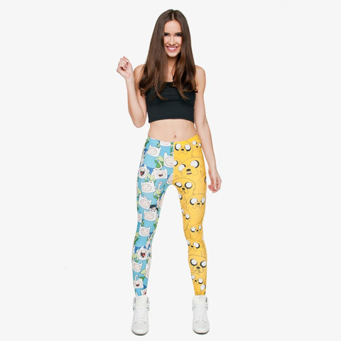 3D Print Rainbow Unicorn Punk Leggings-Leggings & Tights-Pasha Fashion