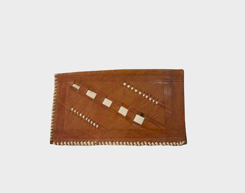 Camel Leather Wallet - dziffa