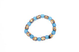 Blue African Glass Bead Bracelet