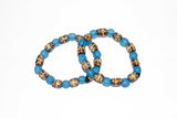 Blue African Glass Bead Bracelets
