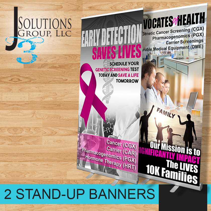 Brand Your Business Stand Up Banner