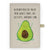 DIN A5 Baumwoll Notizbuch Avocado Happy