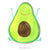 15x15 cm Aufkleber Avocado Happy