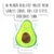 120cm X 120cm Wandtattoo Avocado Happy