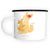 XL Emaille Tasse Fuchs Mama & Kind