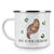 Camping Emaille Tasse Otter mit Seerose