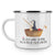 Camping Emaille Tasse Pinguin Angelboot