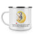 Camping Emaille Tasse Pinguin Mond
