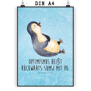 Poster DIN A4 Pinguin lachend