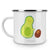 Camping Emaille Tasse Avocado rollt Kern