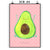 Poster DIN A4 Avocado Happy