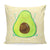 40x40 Kissen Avocado Happy