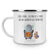 Camping Emaille Tasse Pinguin & Maus Wanderer
