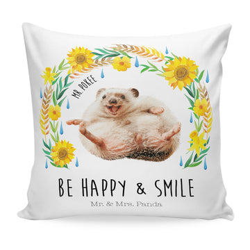 40x40 Kissen Mr Pokee - Be happy and smile
