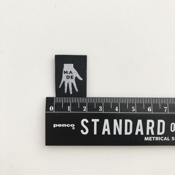 '(Hand) Made' woven labels