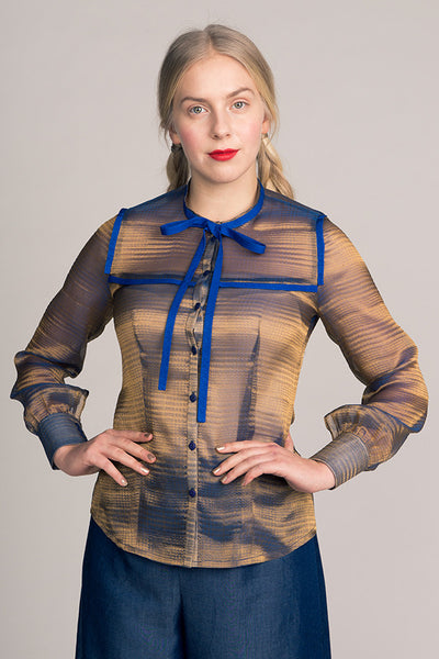 Madeleine Bow Tie Blouse (last copy available in print)